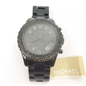 Michael Kors Black 42mm Chronograph Watch